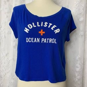Hollister Cropped Short Sleeve Tee